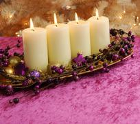 Advent christmas candles with copy space Kuvituskuvat