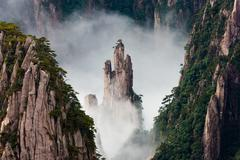 huang shan, anhui province, china - stock photo