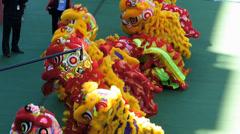 Chinese New Year opening ceremony Hong Kong Jockey club China Asia Stock Footage
