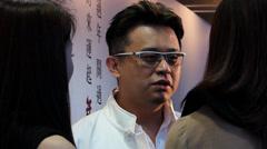 Artist Simon Ma exhibition at Hong Kong Jockey club China Asia Stock Footage
