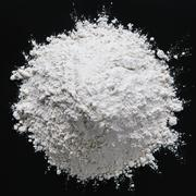 Pile of organic unbleached white flour, black backdrop Stock Photos