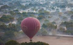 Hot-air balloon, bagan, myanmar Stock Photos