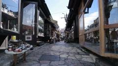 Sarajevo Old Town Stock Footage