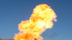 Explosion with Fire and Smoke Stock Footage