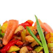 ratatouille from vegetables - stock photo