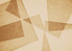 Overlapping pieces of recycled paper. Stock Photos