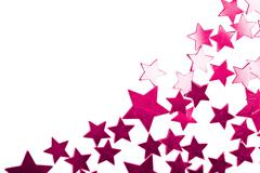 holiday purple stars isolated - stock photo