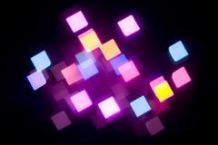 Glowing magenta lights Stock Photos