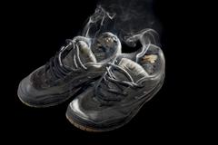 smelly sneakers - stock photo