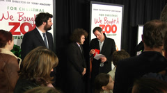Dustin Ybarra and Ben Seeder on the red carpet (BoughtZoo-12) Stock Footage