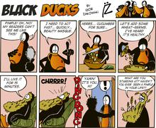 Black Ducks Comics episode 37 Stock Illustration