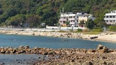Hong Kong Mui Wo Silvermine Bay in Lantau island China Asia Stock Footage