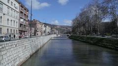 Sarajevo Latin Bridge Stock Footage