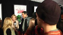 Ilona Herzberg and Rodrigo Prieto on the Red Carpet (BoughtZoo-08) Stock Footage