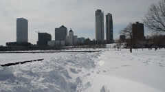 Winter in milwaukee Stock Footage