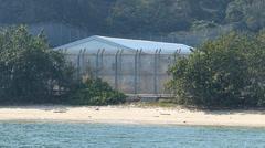 Hong Kong Chi Ma Wan Correctional Institution Lantau island  China Asia Stock Footage