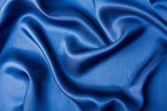 abstract blue silk background - stock photo