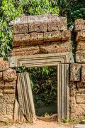 Stock Photo of small gateway ta prohm angkor wat cambodia