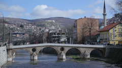 Latin bridge, Sarajevo, Bosnia and Herzegovina Stock Footage
