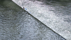 River pollution Stock Footage