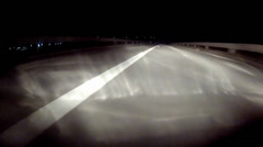 driving on highway at night - stock footage