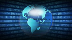 Global Finance Stock Market Animation - stock footage