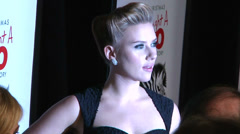 Scarlett Johansson arrives at the red carpet (BoughtZoo-29) - stock footage