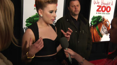 Scarlett Johansson gives an interview on the red carpet (BoughtZoo-46) Stock Footage
