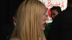 Elle Fanning gives an interview on the red carpet (BoughtZoo-28) Stock Footage
