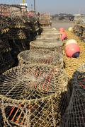 Lobster and crab pots Stock Photos