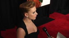 Stock Video Footage of Scarlett Johansson and Matt Damon give interviews (BoughtZoo-50)