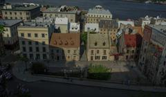 Stock Photo of Quebec City, rue Notre Dame and mural