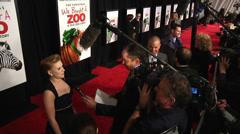 Scarlett Johansson and Matt Damon give interviews (BoughtZoo-49) Stock Footage