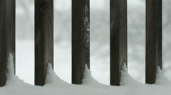 Snow Fence 4K Stock Footage