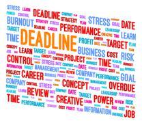 Stock Illustration of Deadline Word Cloud