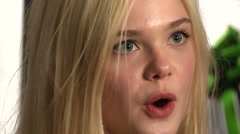 Close up of Elle Fanning on the red carpet (BoughtZoo-24) Stock Footage
