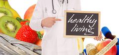healthy living - stock illustration
