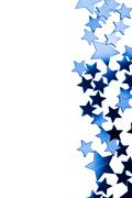 Frame of blue stars isolated Stock Photos