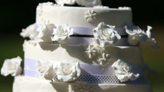Wedding cake with cake toppers Stock Footage