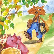 Rouva Possu ja putkimies Fox Piirros