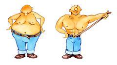 Rapid slimming Stock Illustration