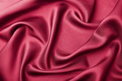 abstract red silk background - stock photo