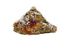 calcite, dolomite with bornite - stock photo