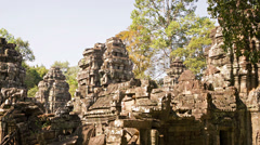 Ruins of old temples of the 12th century. cambodia, angkor Stock Footage