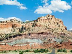 Capitol Reef Cliffs - stock photo
