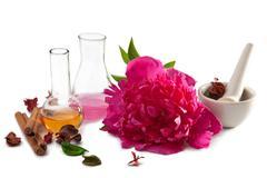 aromatherapy isolated - stock photo