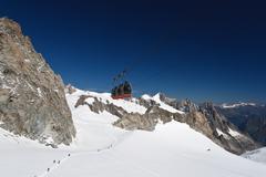 Mont Blanc - Mer de glace glacier - stock photo