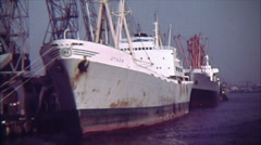 Vintage Freight Ship 16mm Film Stock Footage