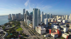 Downtown Miami static aerial video Stock Footage