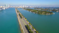 Macarthur Bridge Miami Beach - stock footage